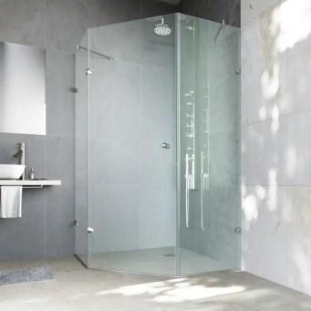 Beautiful bathroom frameless shower glass enclosure 33