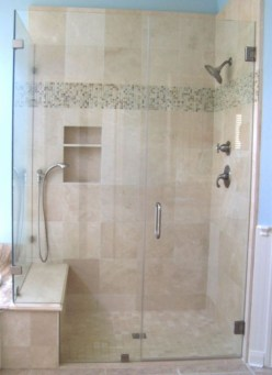 Beautiful bathroom frameless shower glass enclosure 35