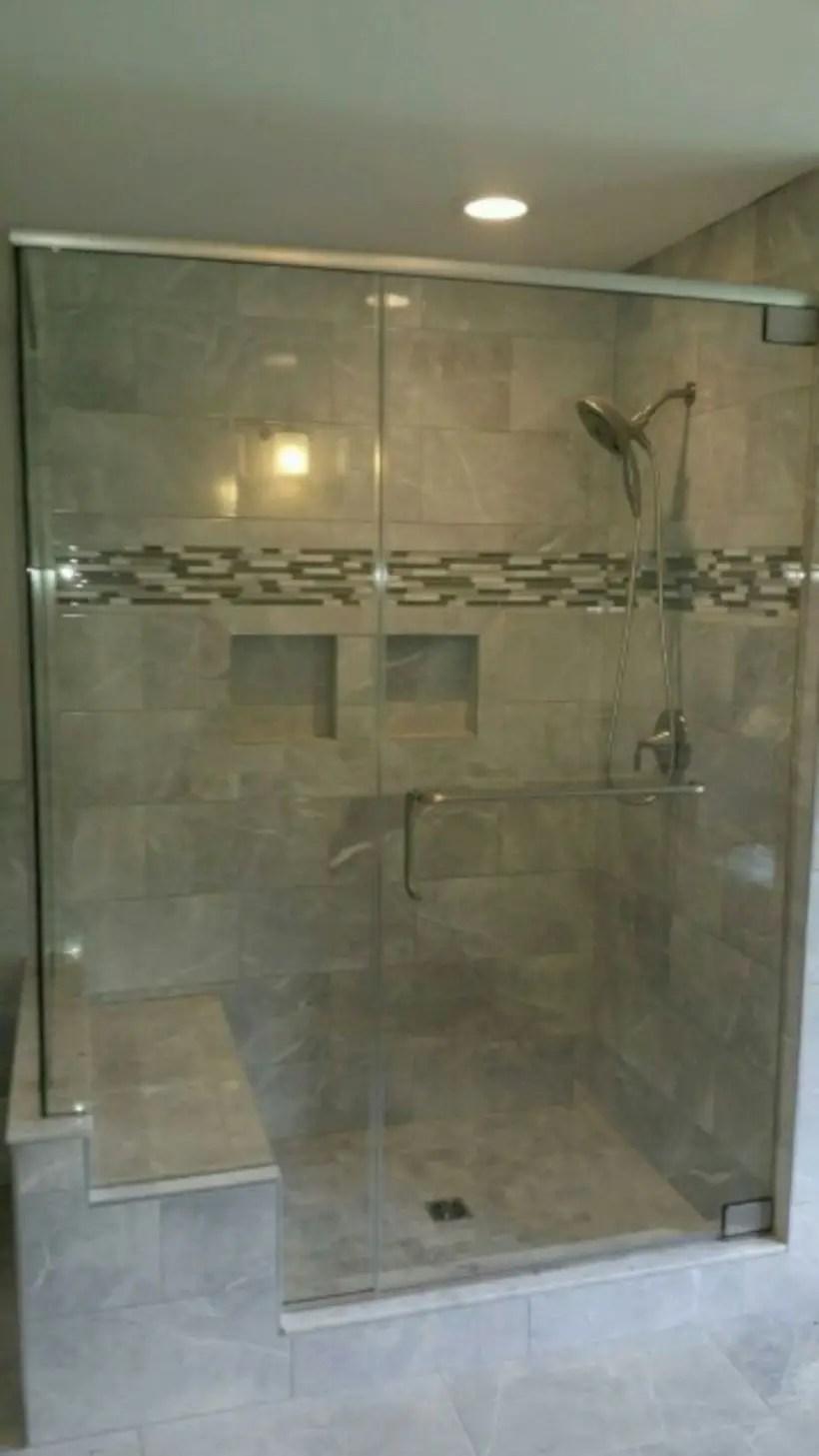 Beautiful bathroom frameless shower glass enclosure 46