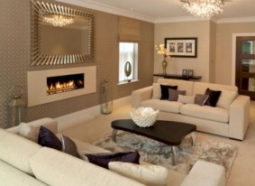 Beautiful living room design ideas with mirror 05