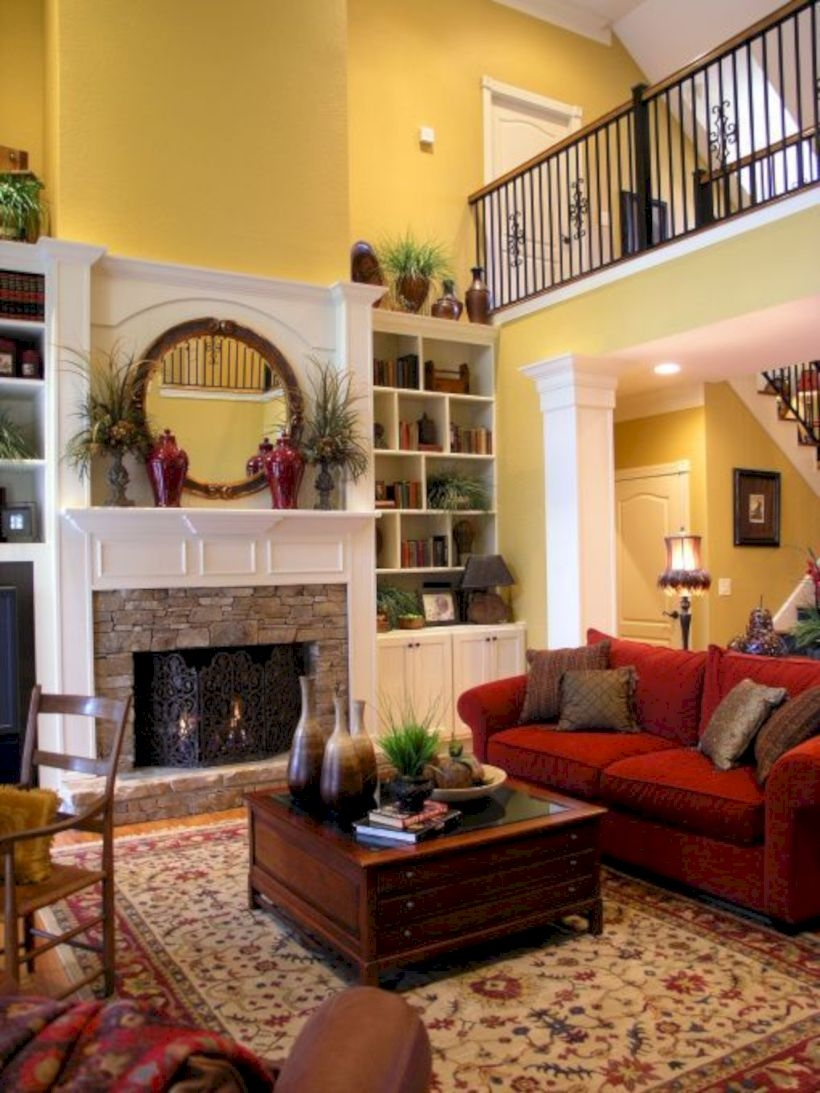 Beautiful living room design ideas with mirror 13