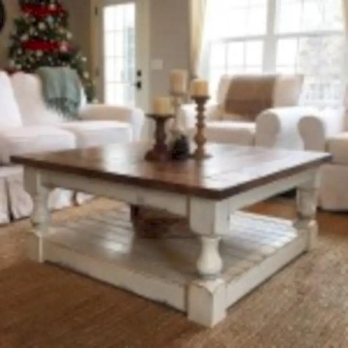 Best chunky farmhouse coffee table 02