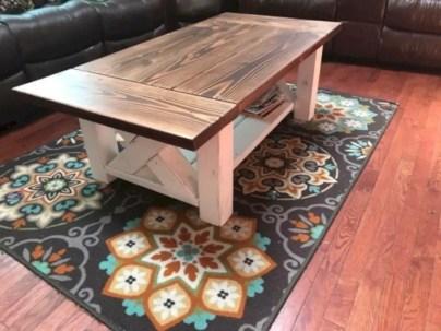 Best chunky farmhouse coffee table 17