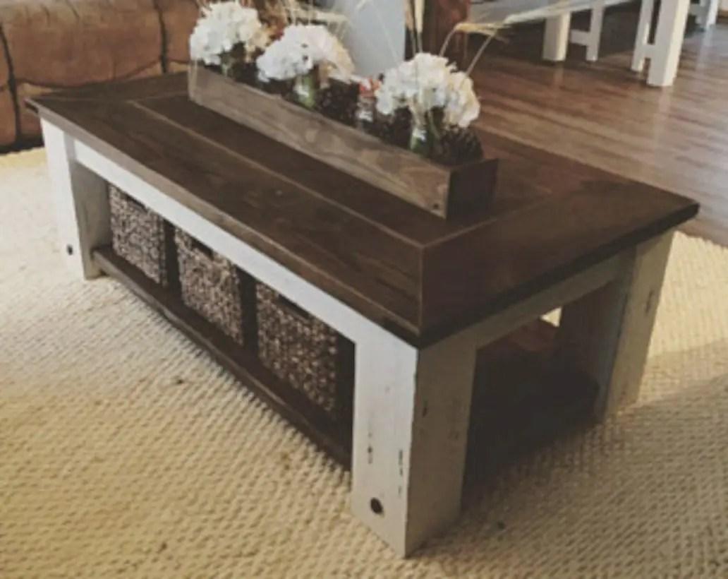 Best chunky farmhouse coffee table 31