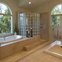 Best classic glass block shower layout 02