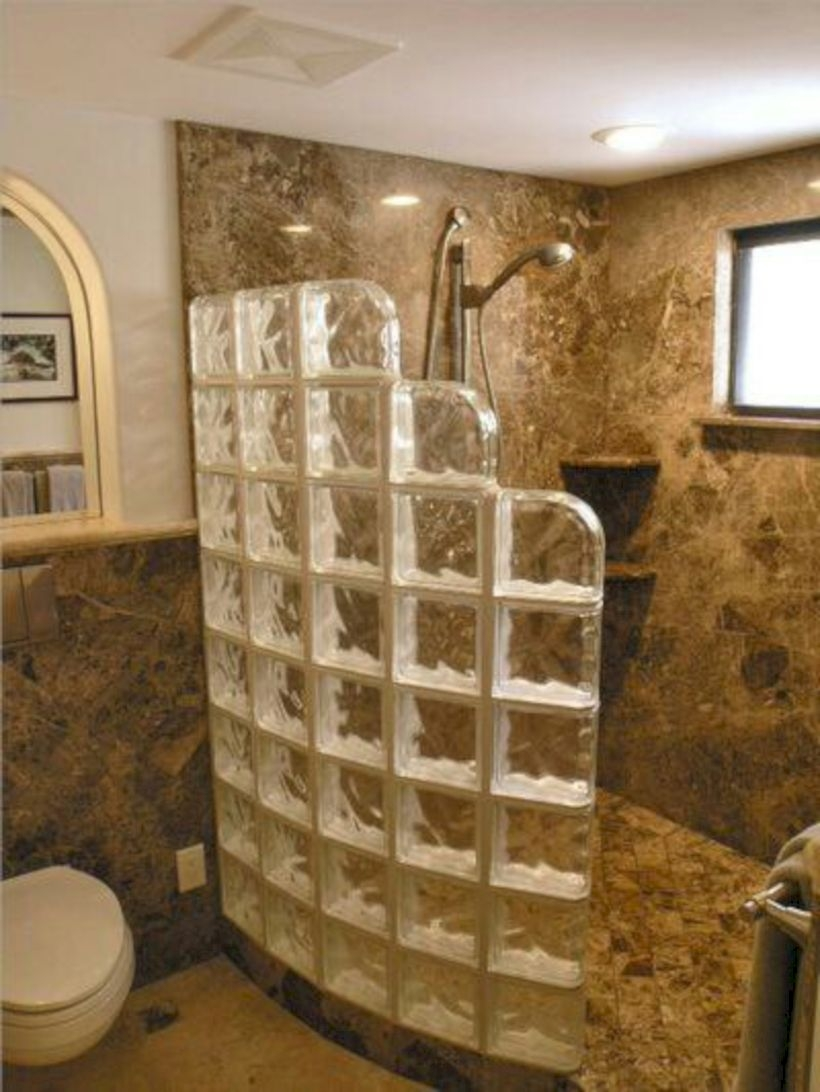 Best classic glass block shower layout 19