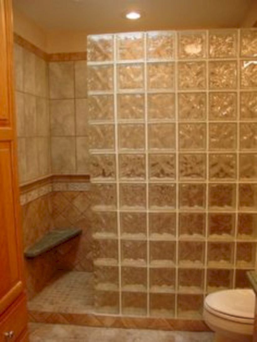 Best classic glass block shower layout 28