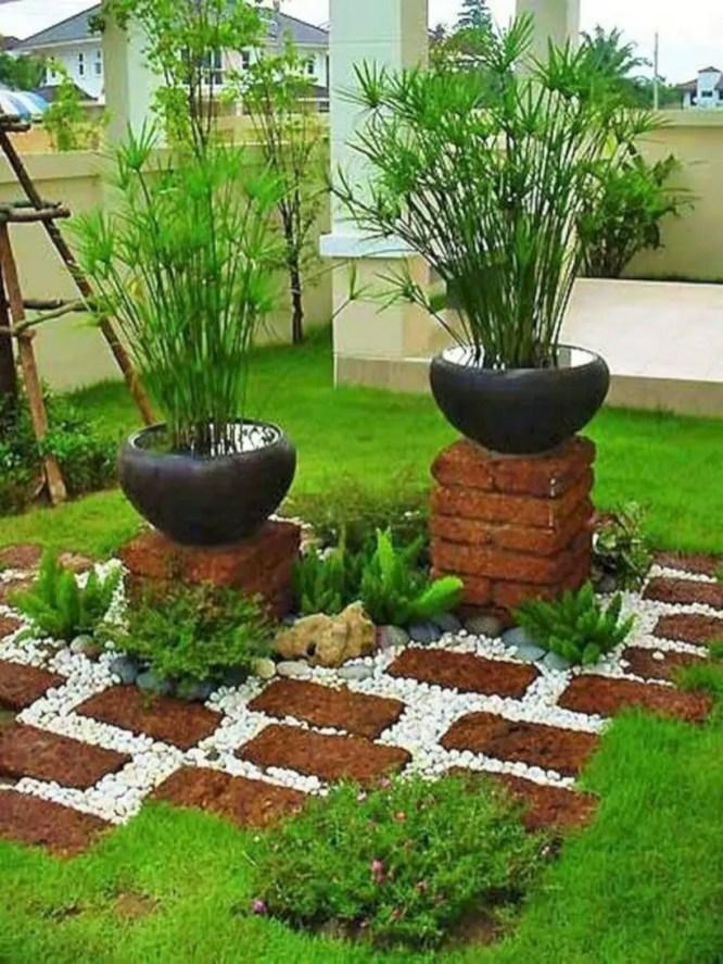 Best garden walkway to envy your visitor 38