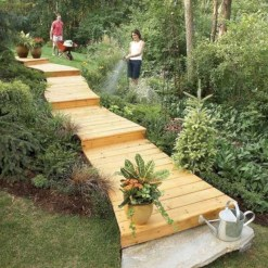 Best garden walkway to envy your visitor 44