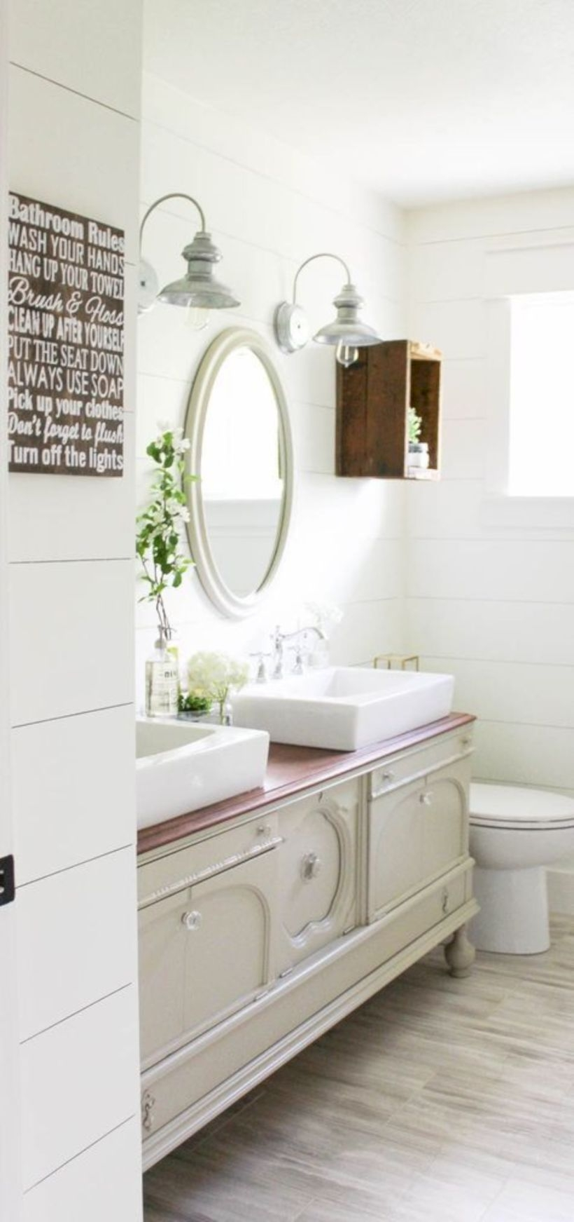 Best modern vintage bathroom reveal 01
