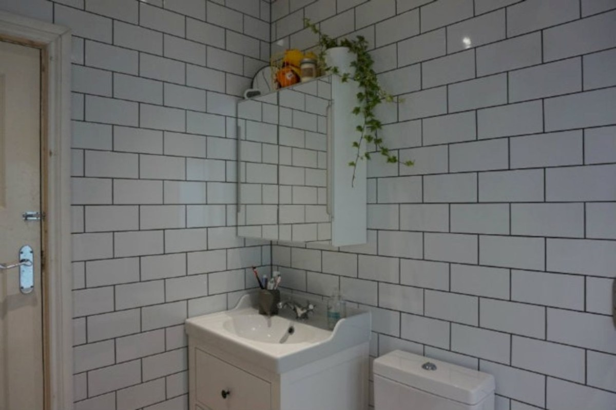 Best modern vintage bathroom reveal 22