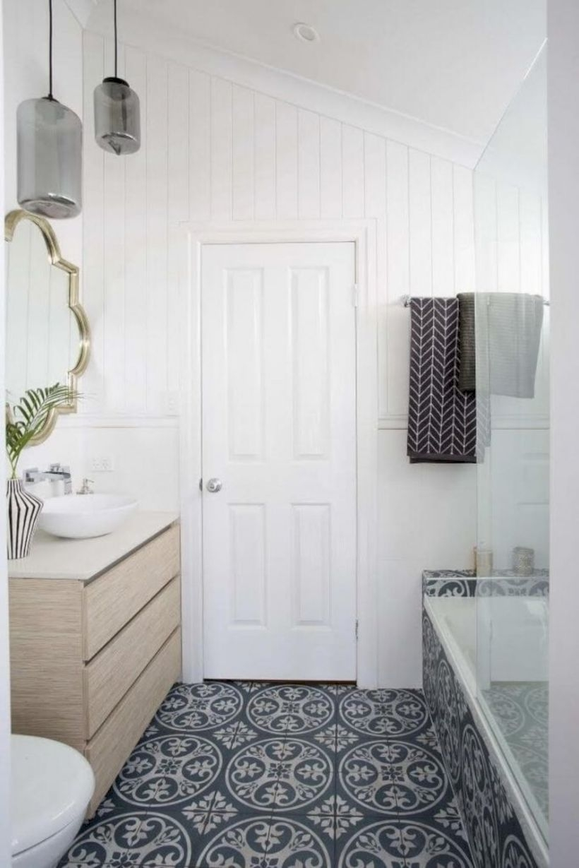 Best modern vintage bathroom reveal 25