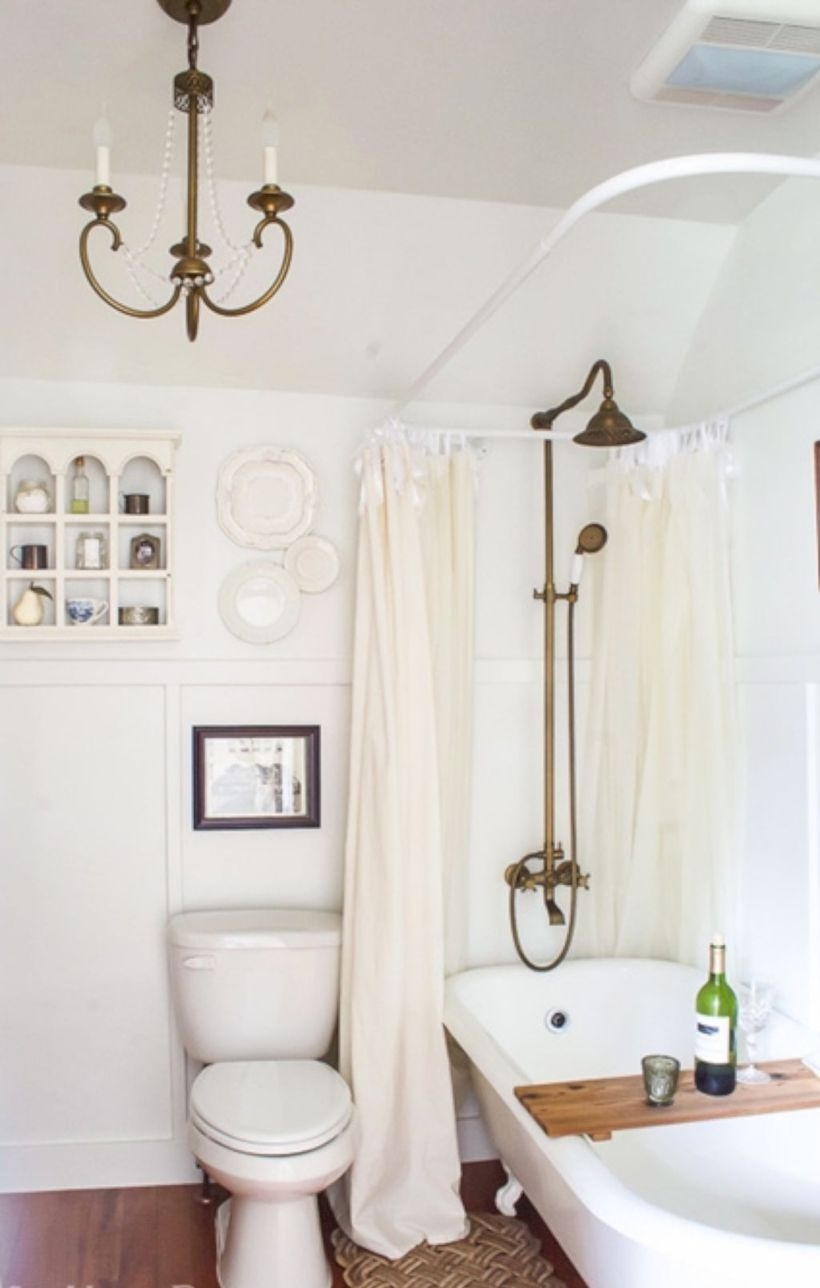 Best modern vintage bathroom reveal 32