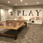 Built-in bench for your basement design ideas 08
