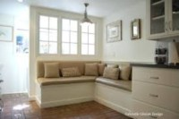 Built-in bench for your basement design ideas 29