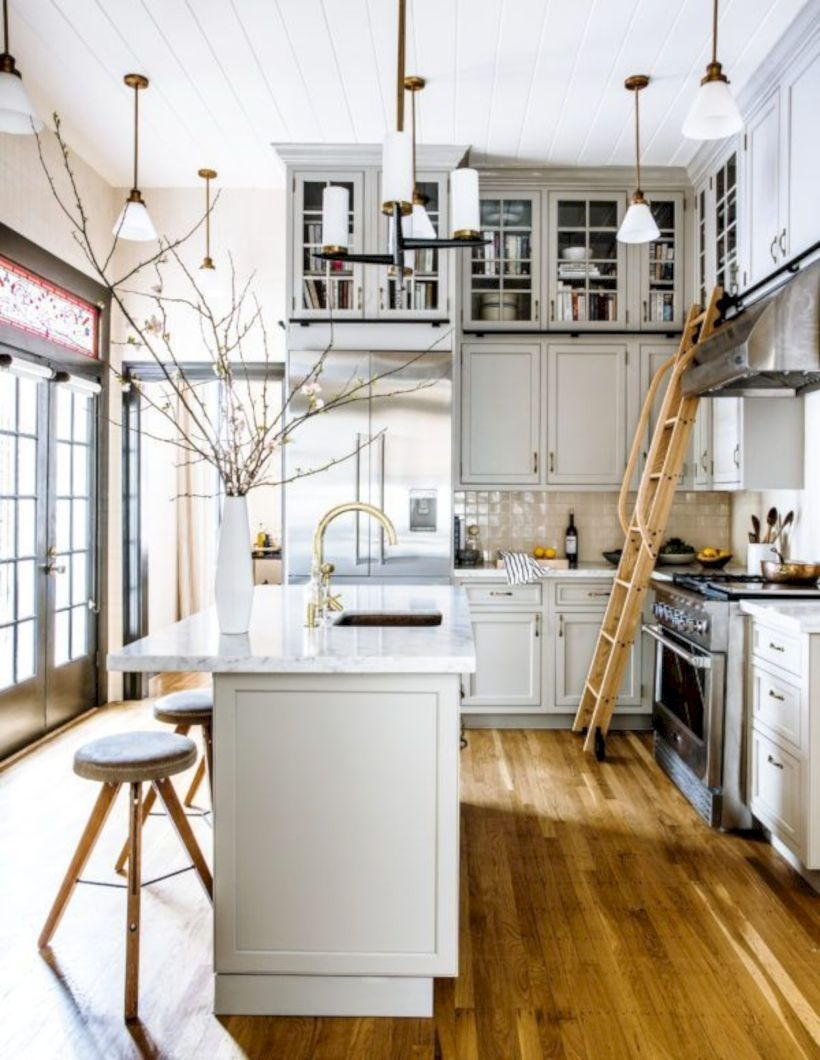 Charming custom kitchens cabinets designs 32