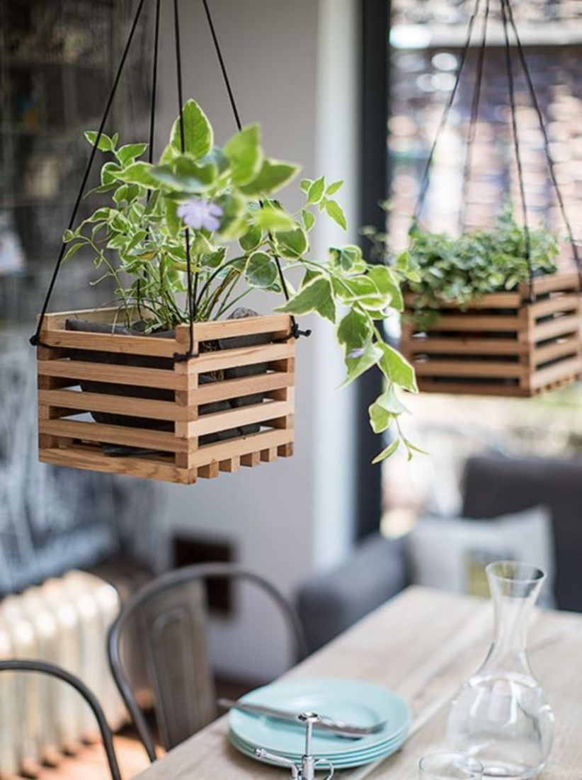 Charming outdoor hanging planters ideas to brighten your yard 03