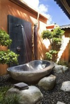 Creative bathroom with soft stone floor to massage your feet 06