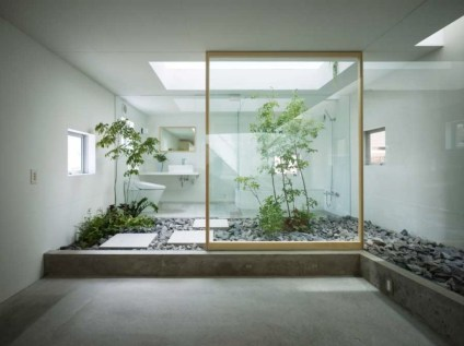 Creative bathroom with soft stone floor to massage your feet 13