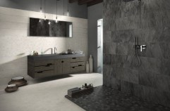 Creative bathroom with soft stone floor to massage your feet 29