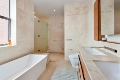 Creative bathroom with soft stone floor to massage your feet 31