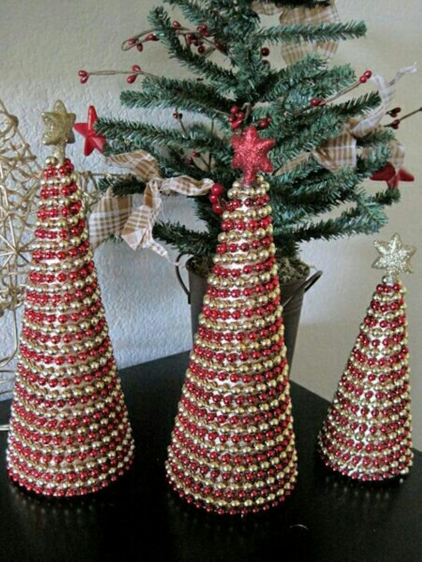 Diy christmas cone trees 01