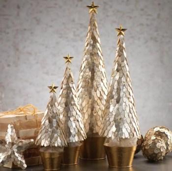 Diy christmas cone trees 05