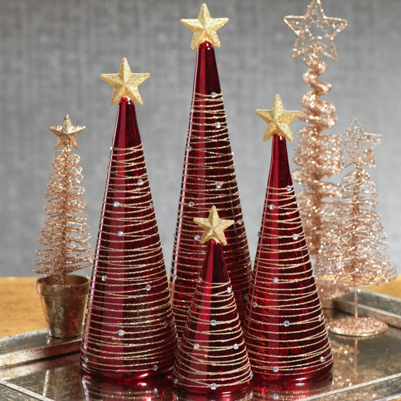 Diy christmas cone trees 13