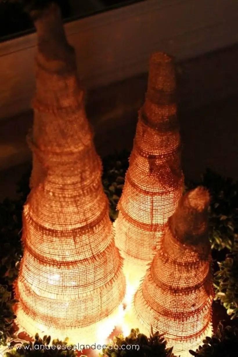 Diy christmas cone trees 21