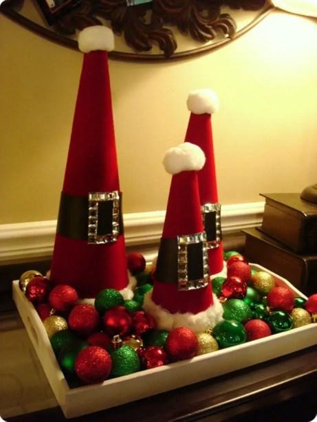 Diy christmas cone trees 26