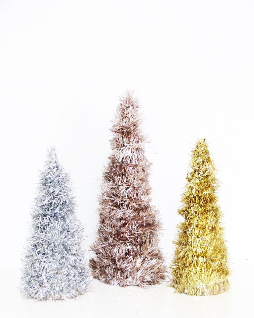 Diy christmas cone trees 27