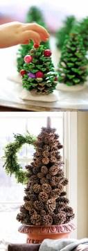 Diy christmas cone trees 30