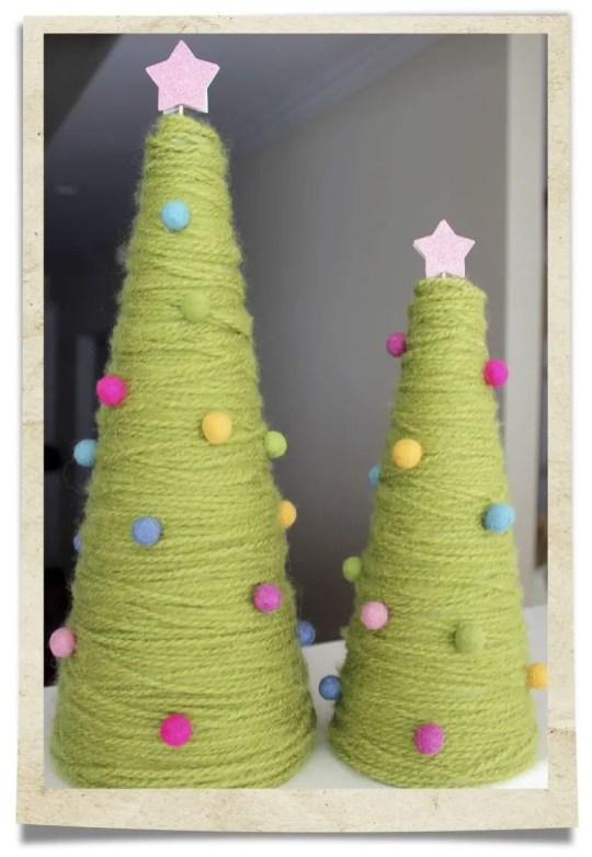 Diy christmas cone trees 39