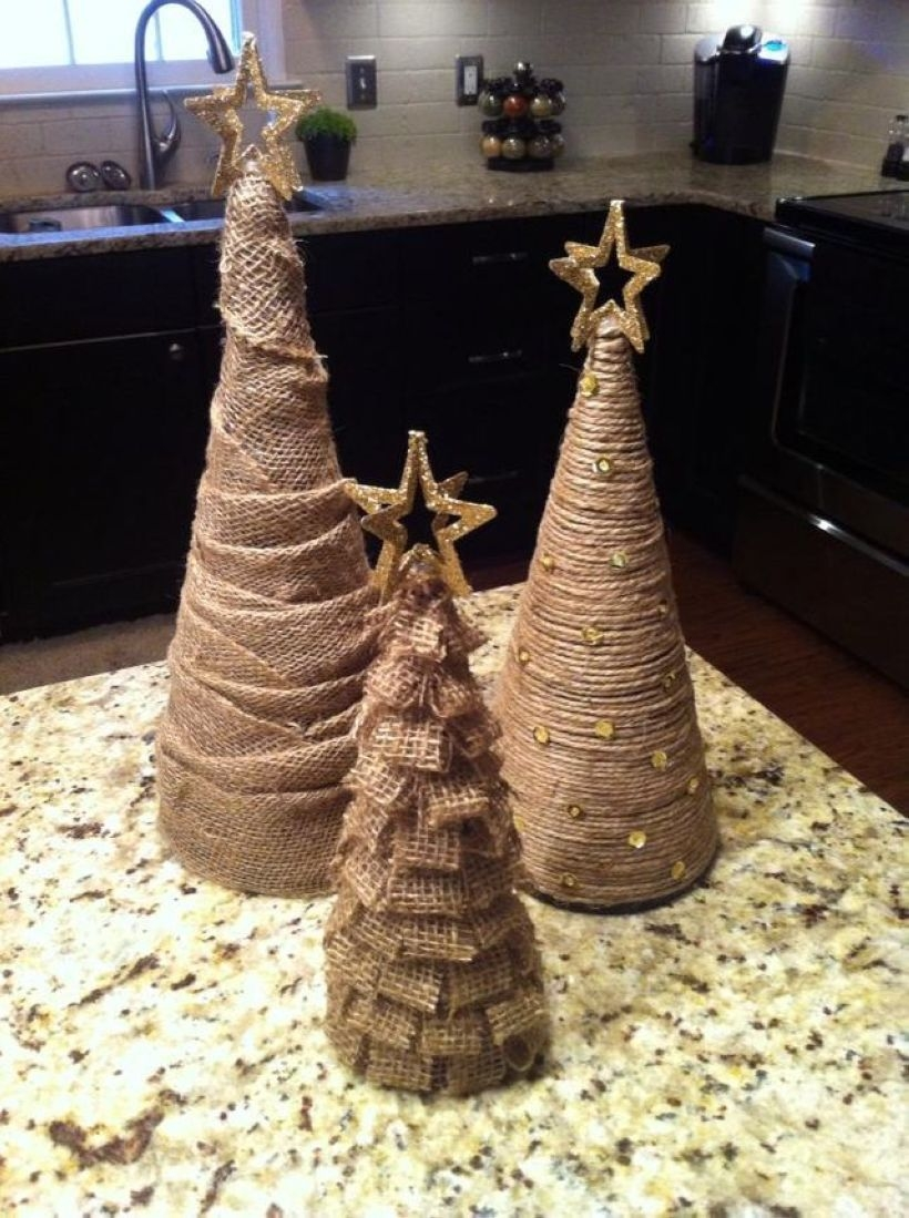 Diy christmas cone trees 42