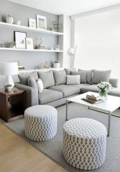 Diy wall shelves ideas for living room decoration 05