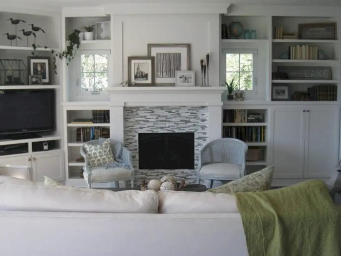 Diy wall shelves ideas for living room decoration 17