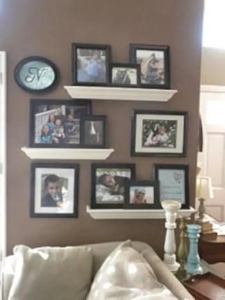 Diy wall shelves ideas for living room decoration 32