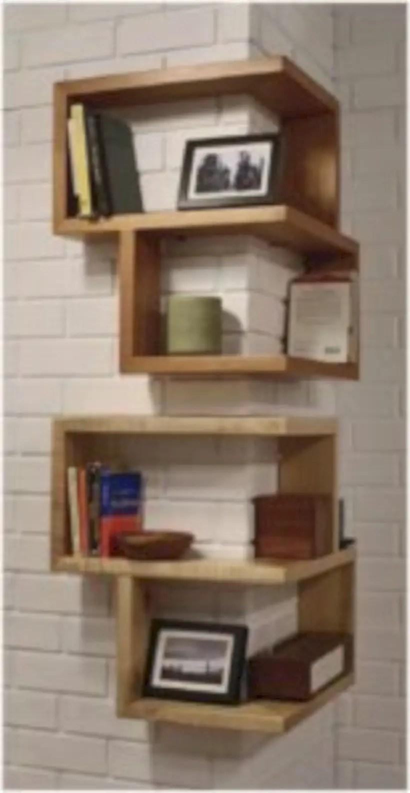 Diy wall shelves ideas for living room decoration 34