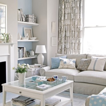 Diy wall shelves ideas for living room decoration 42