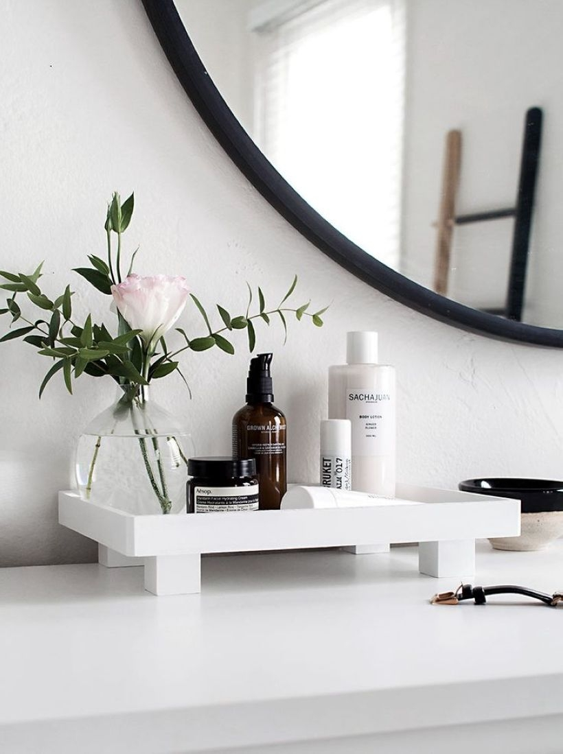 Easy diy footed vanity tray 08