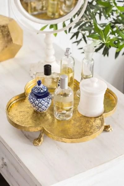 Easy diy footed vanity tray 11