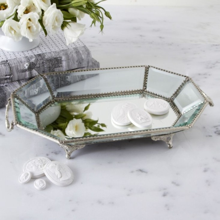 Easy diy footed vanity tray 13