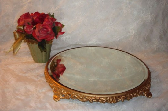 Easy diy footed vanity tray 18