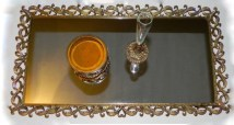 Easy diy footed vanity tray 20
