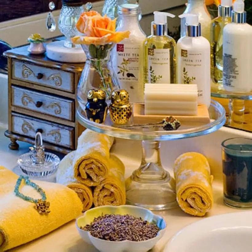 Easy diy footed vanity tray 29