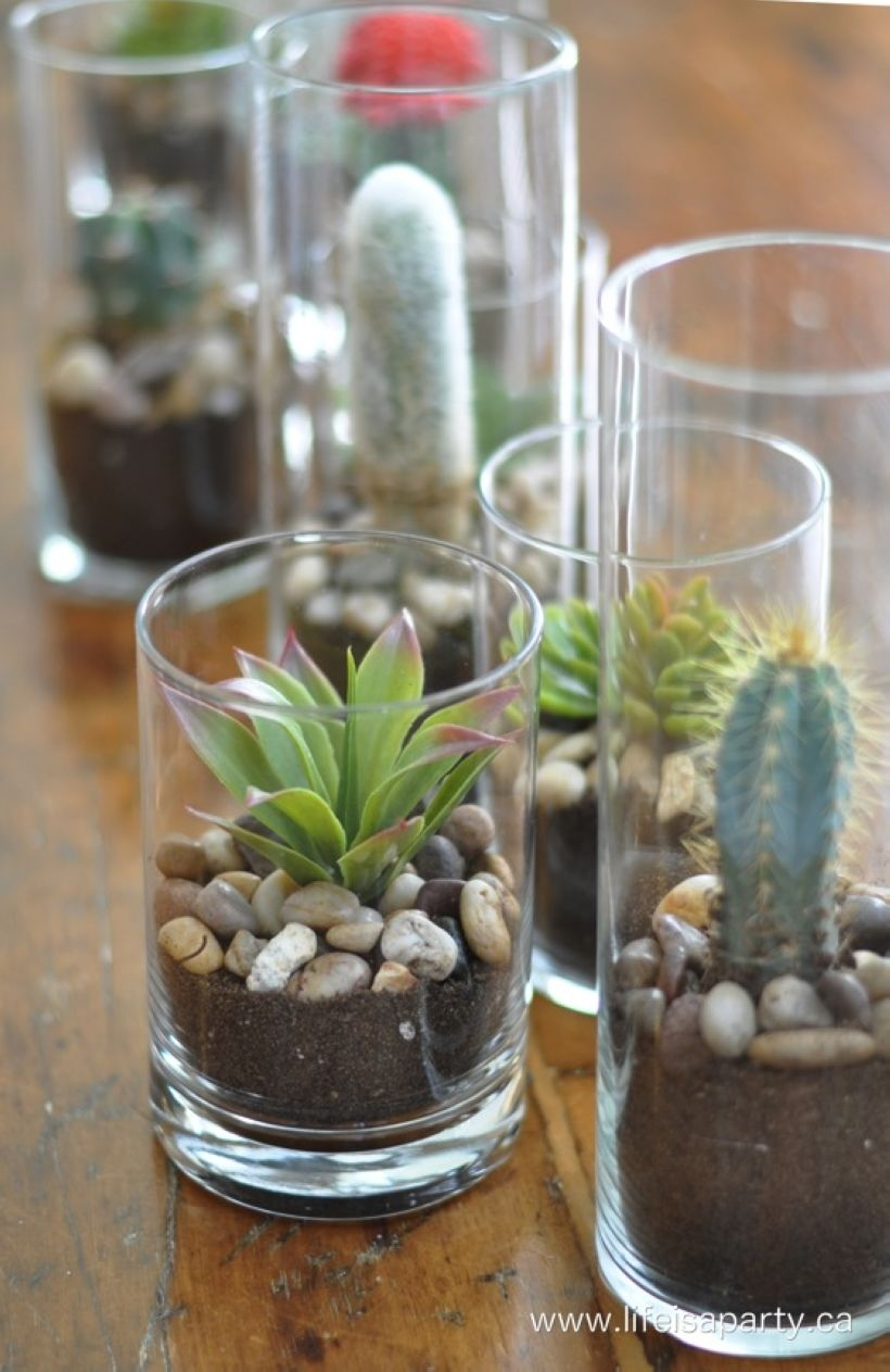 Faux cactus and succulent projects and ideas to decorate your home 26