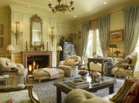 High ceilings accent wall with traditional and classic look 04