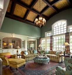 High ceilings accent wall with traditional and classic look 10