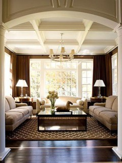 High ceilings accent wall with traditional and classic look 15