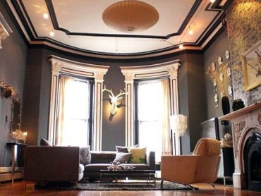 High ceilings accent wall with traditional and classic look 31
